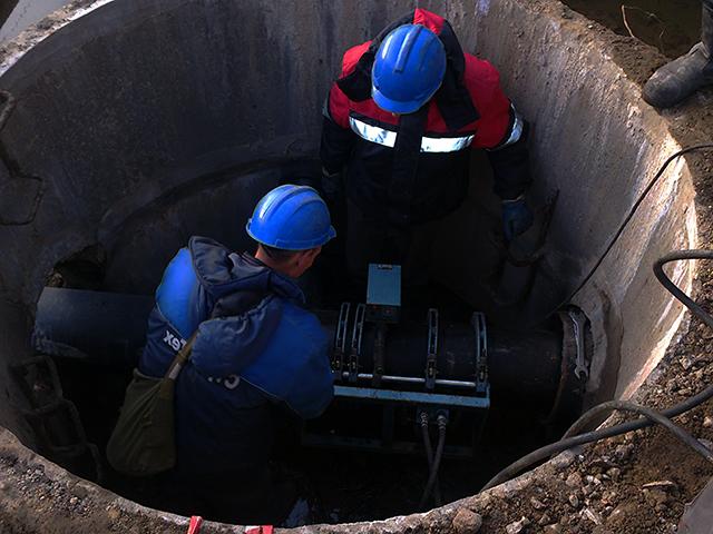 Гидродинамическая прочистка наружной сети канализации