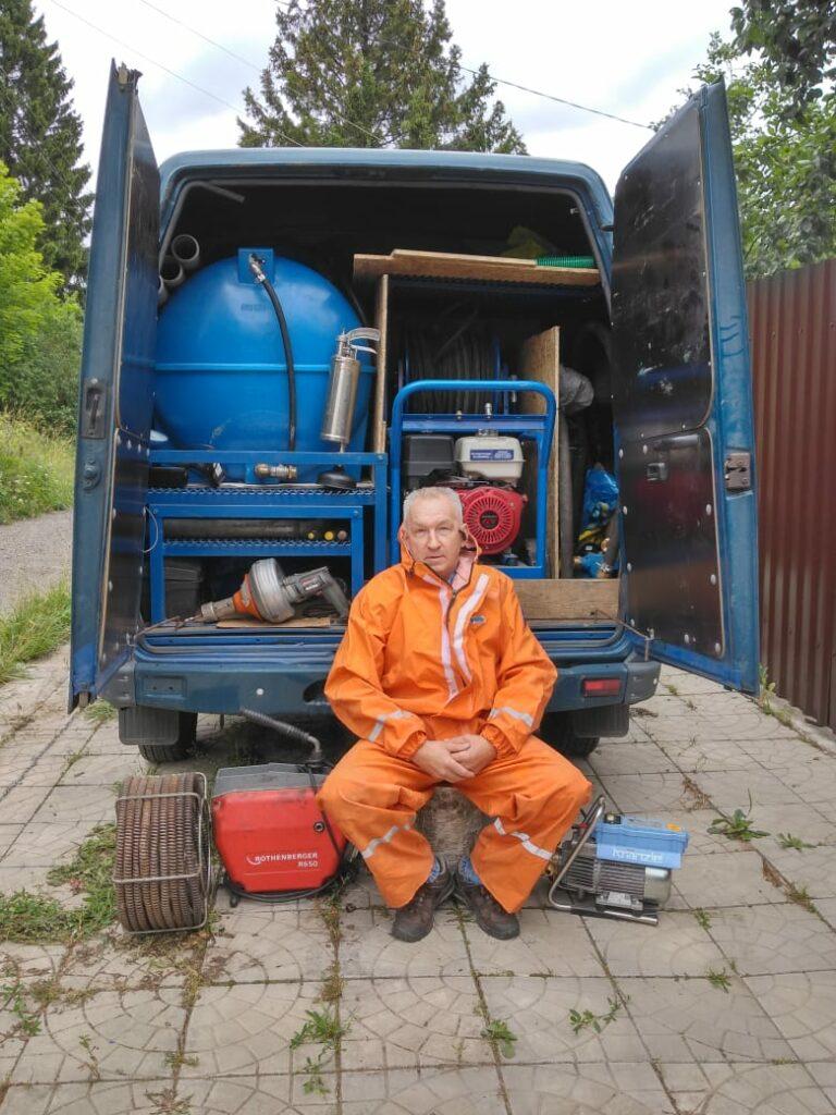 современное оборудование для прочистки канализации